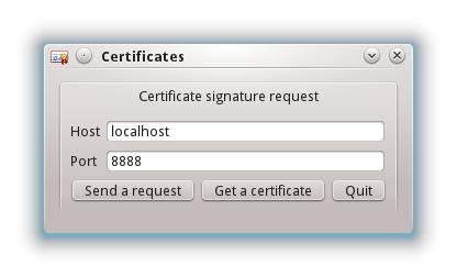 Create a request and get a certificate